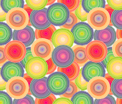 Concentric Colors fabric by feliscatus on Spoonflower - custom fabric