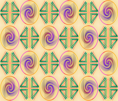 The Circles Are the New Triangle Design Challenge T1 fabric by phosfene on Spoonflower - custom fabric