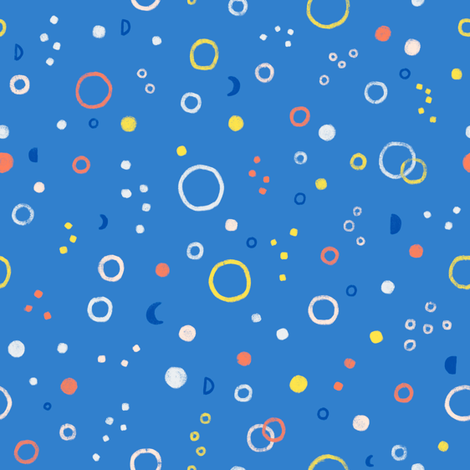 Circles abstract pattern fabric by stolenpencil on Spoonflower - custom fabric