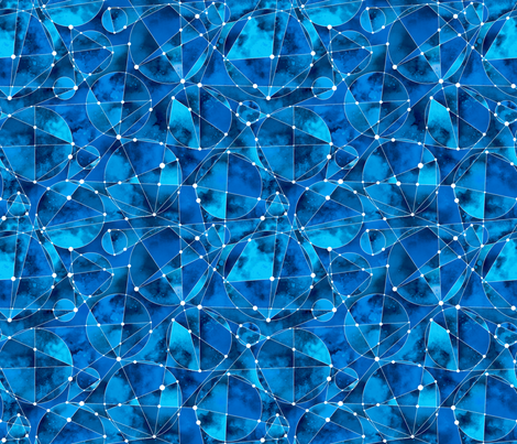 Geometric Nebula_Blue fabric by mia_valdez on Spoonflower - custom fabric