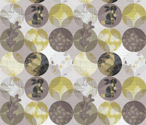 AUTUMN CIRCLES  fabric by gemmacosgroveball on Spoonflower - custom fabric