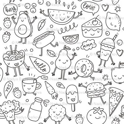 Love cartoon food)