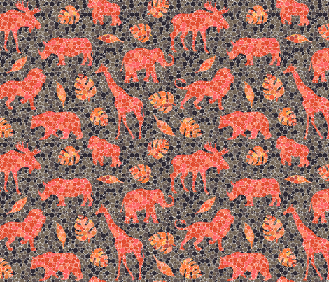 Spot the animals fabric by roofdog_designs on Spoonflower - custom fabric