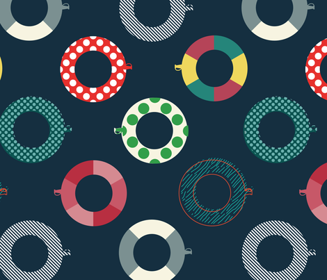 Circles on the Water fabric by caro-nika on Spoonflower - custom fabric