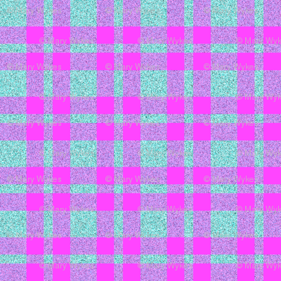 CD10 - Speckled Aqua - Fuchsia Pink - Aqua Plaid