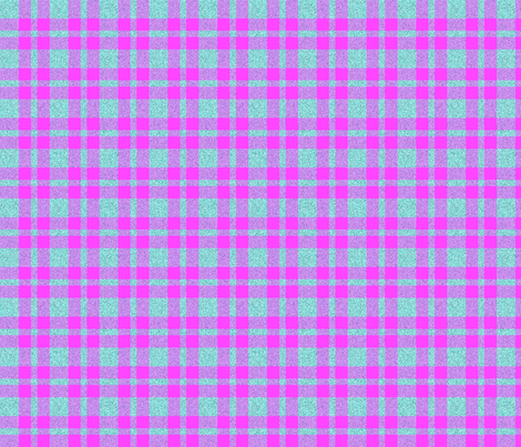 CD10 - Speckled Aqua - Fuchsia Pink - Aqua Plaid fabric by maryyx on Spoonflower - custom fabric