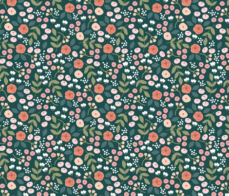 Forest Floral fabric by haleymccoydesign on Spoonflower - custom fabric