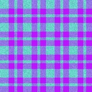 CD12  - Violet and Speckled Aqua Tartan Plaid