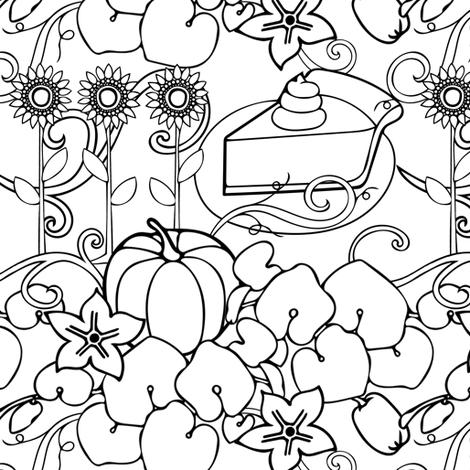 Farm to Table Pumpkin Pie fabric by twix on Spoonflower - custom fabric