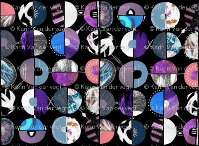Disco circles pop art