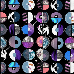 Disco circles pop art