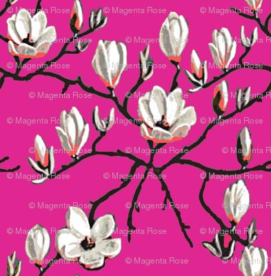 Magnolia flower// hot pink Floral