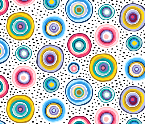 Agate Mineral Circles Rock multicolor fabric by heleen_vd_thillart on Spoonflower - custom fabric