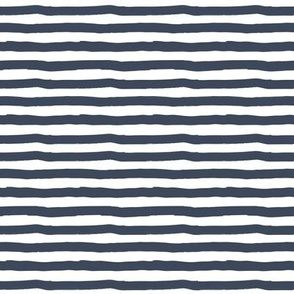 """8"""" Charlie The Bear Mix and Match Stripes - Dark Blue & White"""