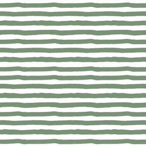 """8"""" Charlie The Bear Mix and Match Stripes - Green & White"""