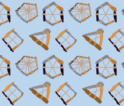 Inventing the wheel fabric by ruthjohanna on Spoonflower - custom fabric
