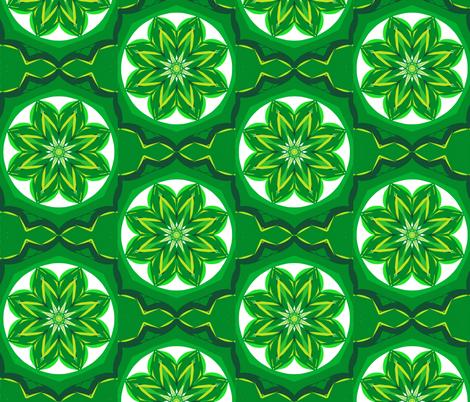 Star-Flowers in Faery Rings fabric by rhondadesigns on Spoonflower - custom fabric