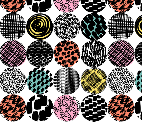 patterned circles 2 fabric by laura_may_designs on Spoonflower - custom fabric