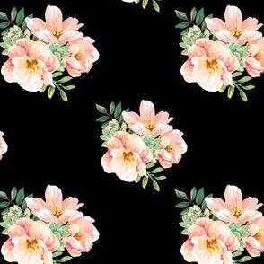 "4"" Aztec Pink Roses - Black"