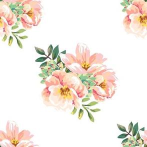 "8"" Aztec Pink Roses - White"