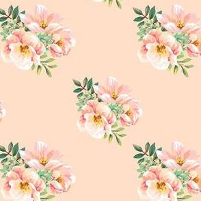 """4"""" Aztec Pink Roses - Peach"""