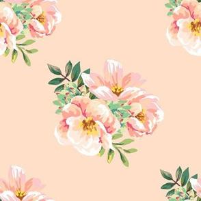 """8"""" Aztec Pink Roses - Peach"""