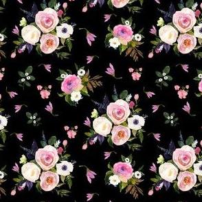 """4"""" Colette Blooms - Black"""