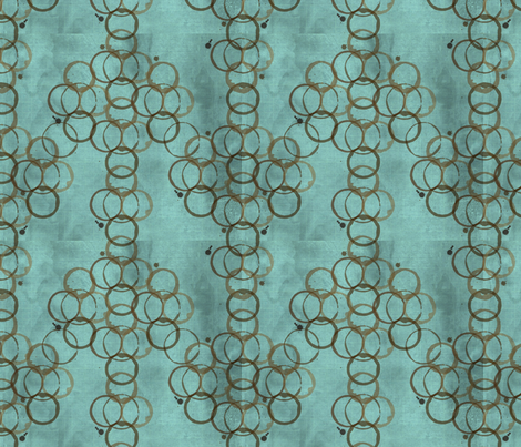 A Latte Circle Damask fabric by kfrogb on Spoonflower - custom fabric