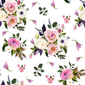 "36"" Colette Blooms - White"