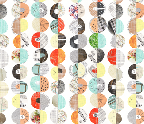 I Believe in Circles fabric by snowflower on Spoonflower - custom fabric