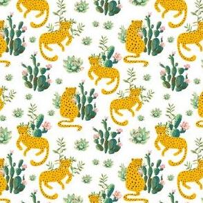 "4"" Jungle Cactus Leopard - White"