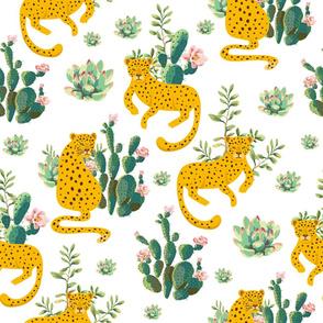 "21"" Jungle Cactus Leopard - White"