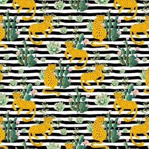 "4"" Jungle Cactus Leopard - Black and White Stripes"