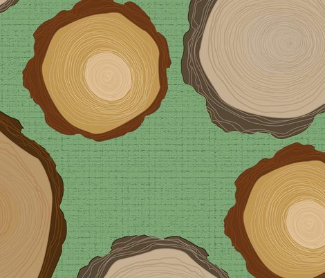 tree ring fabric by marisandesigns on Spoonflower - custom fabric