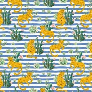 "4"" Jungle Cactus Leopard - Blue Stripes"