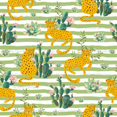 "8"" Jungle Cactus Leopard - Green Stripes"