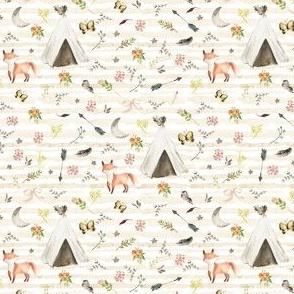 "4"" Baby Fox Boho - Stripes"