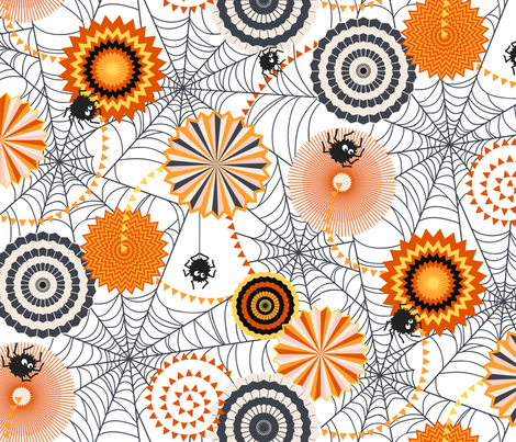 Spider Tea Party fabric by meliszawang on Spoonflower - custom fabric
