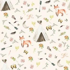 """8"""" Baby Fox Boho - Ivory"""