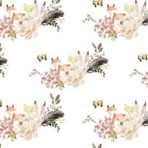 "4"" Baby Fox Boho Bouquet - White"