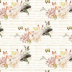 """4"""" Baby Fox Boho Bouquet - Stripes"""