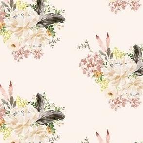 """4"""" Ivory Boho Bouquet - Ivory"""