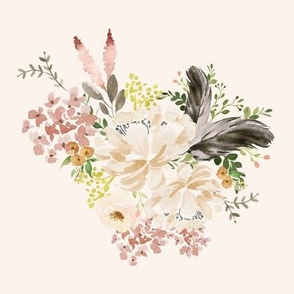 """8"""" Ivory Boho Bouquet - Ivory"""