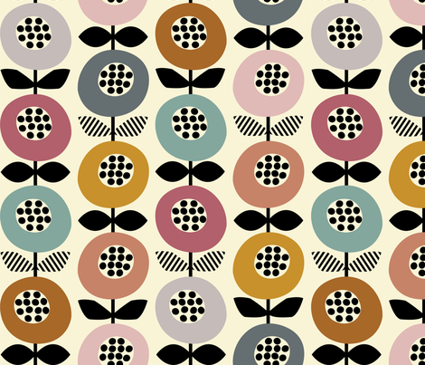 Mod Pods fabric by nanshizzle on Spoonflower - custom fabric