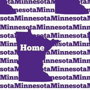 Home in Minnesota-Purple