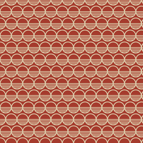 Atomic Century Circles - Martian Scarlet fabric by siya on Spoonflower - custom fabric