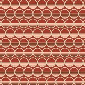Atomic Century Circles - Martian Scarlet