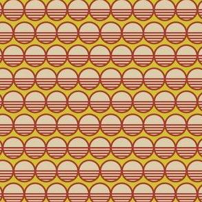 Atomic Century Circle - Beige on Atomic Lemon
