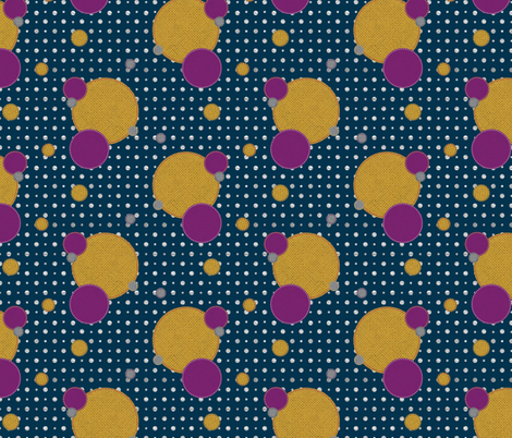 Vibrant Dots and Circles fabric by katyluxionart on Spoonflower - custom fabric