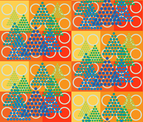 Circles and Triangular Trees fabric by zsmama on Spoonflower - custom fabric